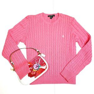 Lauren Ralph Lauren cotton cable knit sweater, M